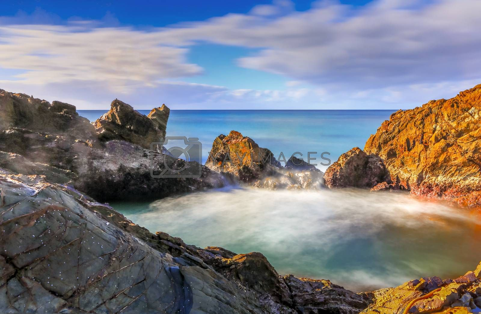 The secret rock pool.  Long Exposure taken early morning.