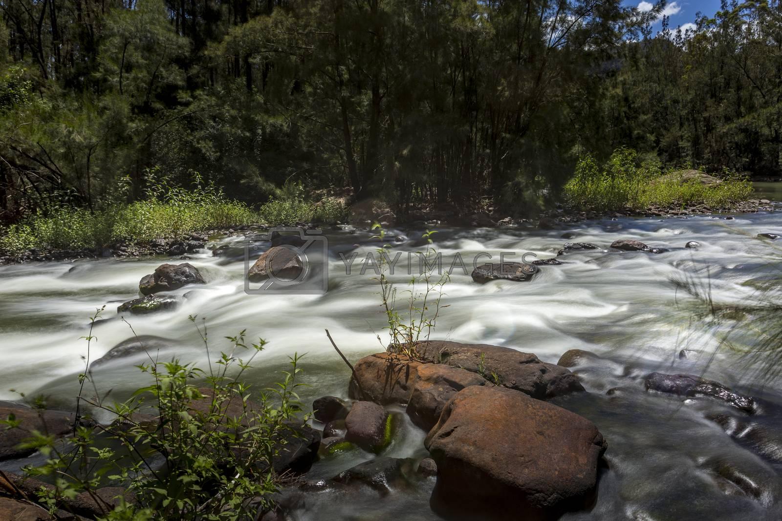 River rapids upstream Shoalhaven river Australia