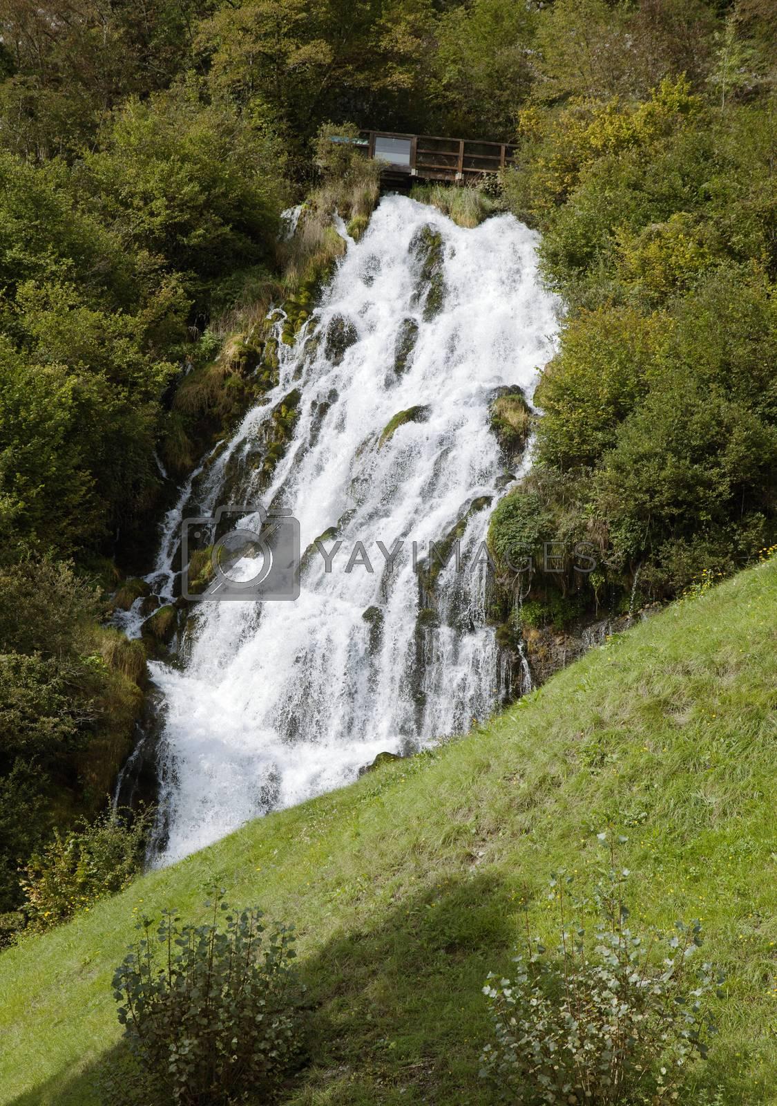 Cascate del Rio Bianco near Stenico, Northern Italy