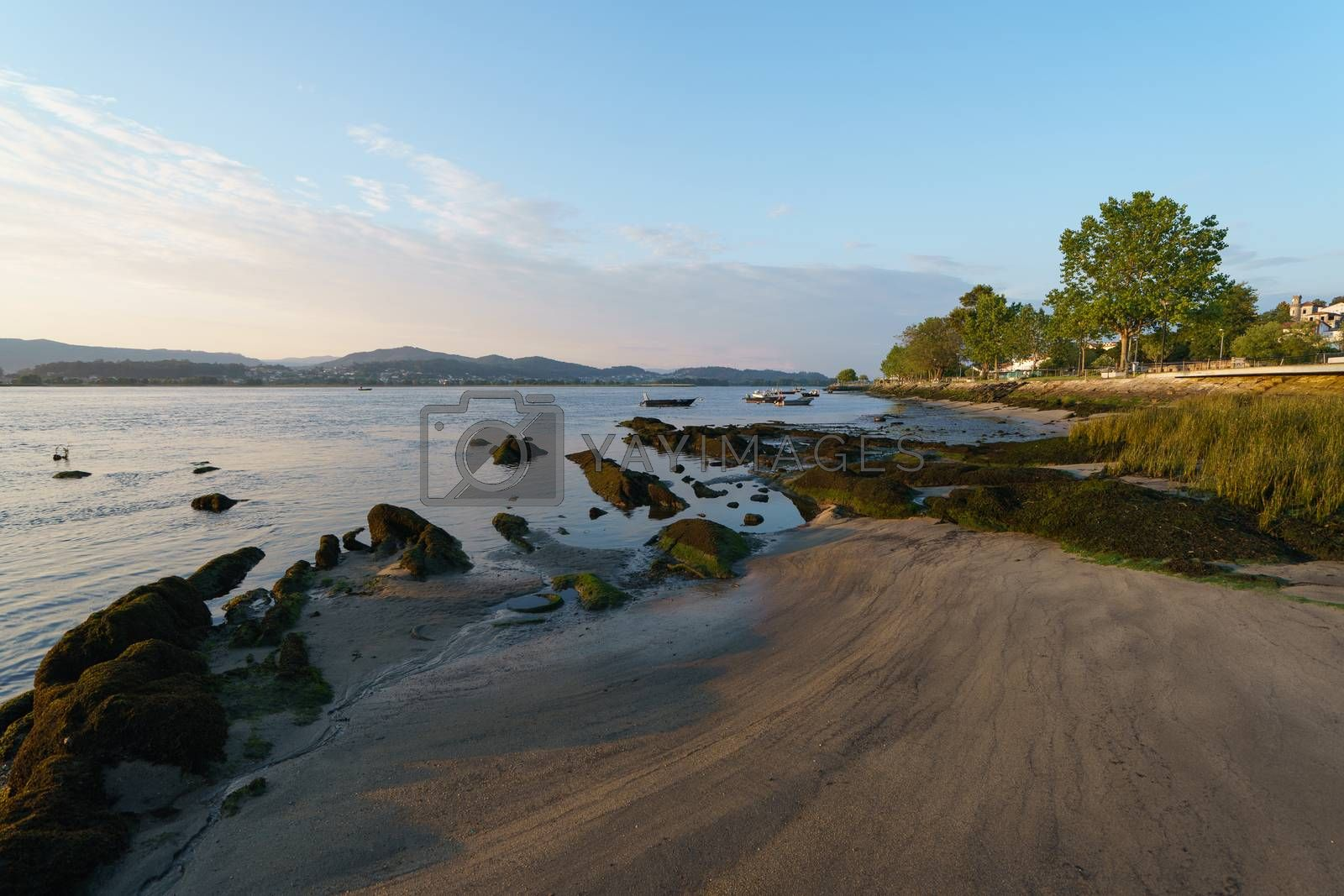 Low tide on the Minya river (northern Portugal)