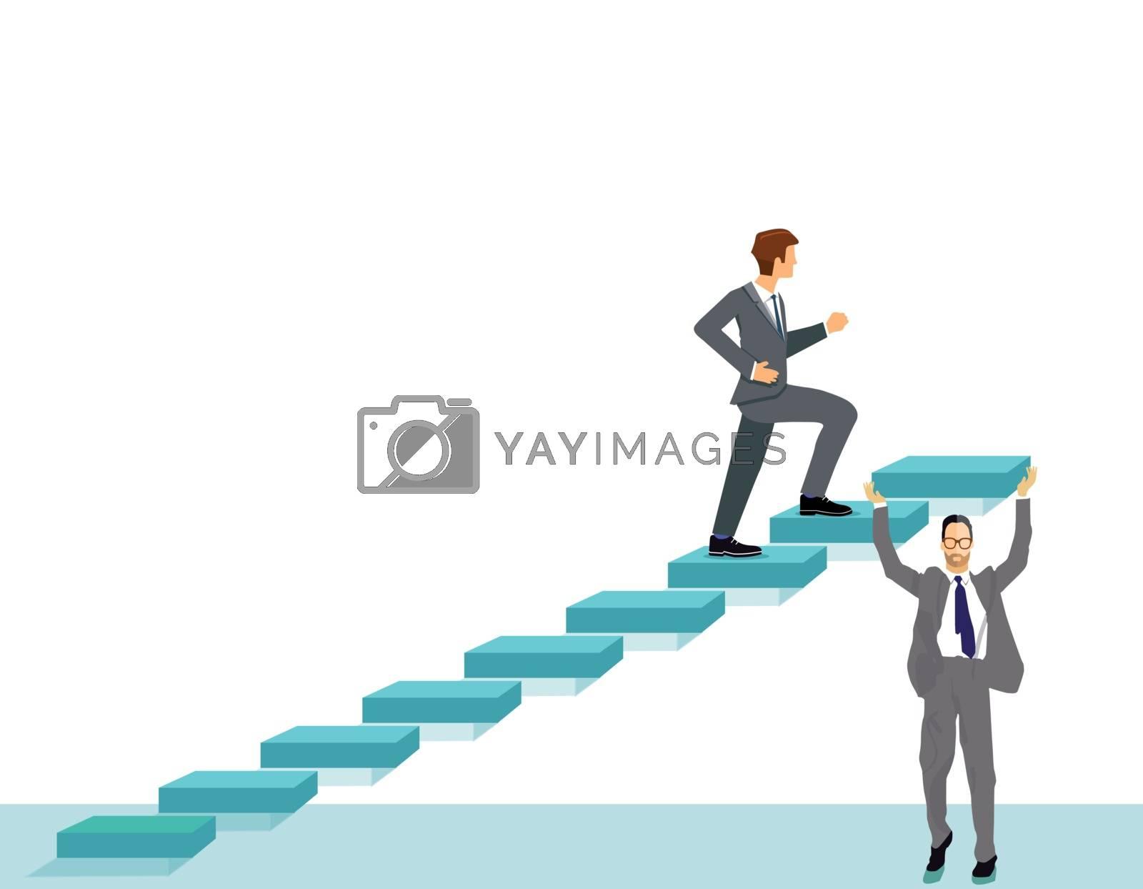 Career Plan, Successfully Rising Illustration