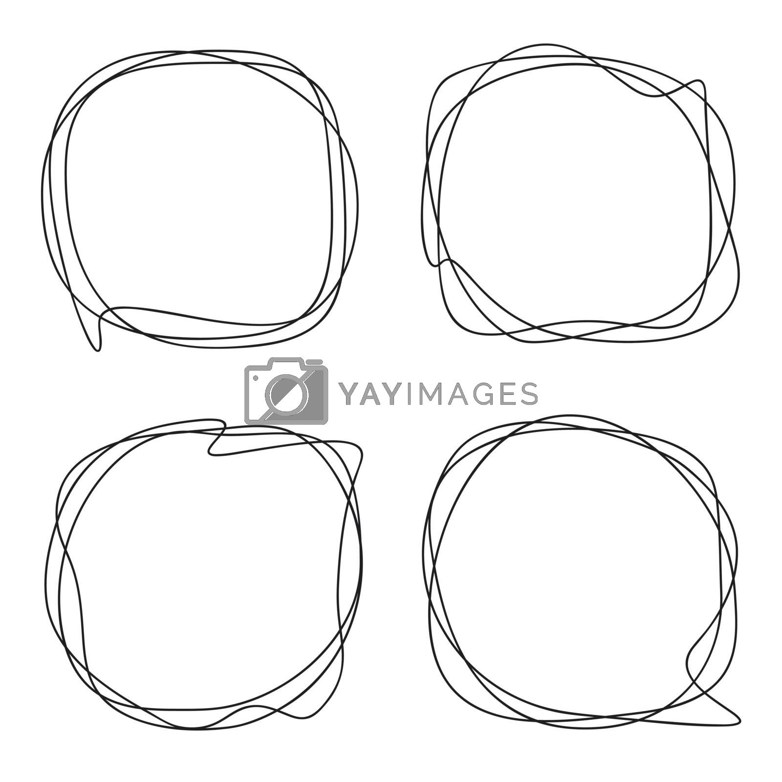 Speech Bubble collection. Abstract frames for the design of business presentations illustrating communicating chatting. Set of Wavy lines of objects