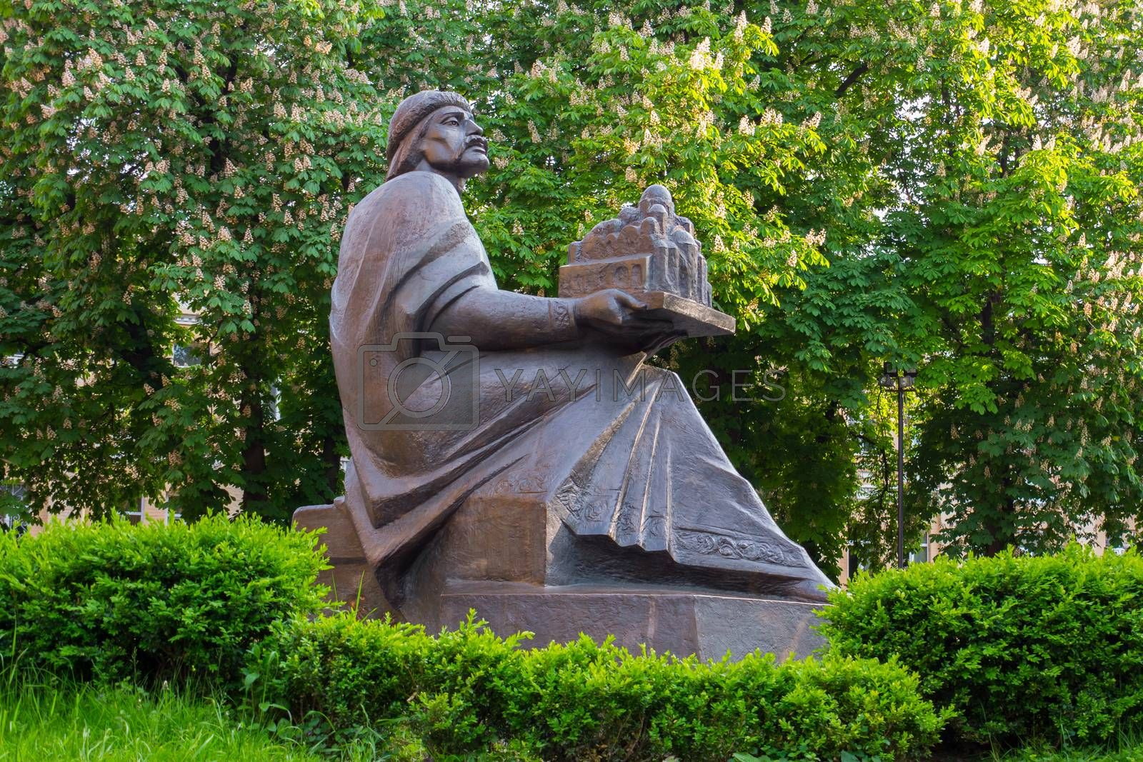 Royalty free image of Monument to the prince of Kievan Rus Yaroslav the Wise which is located near the metro station Golden Gate in Kiev by Adamchuk