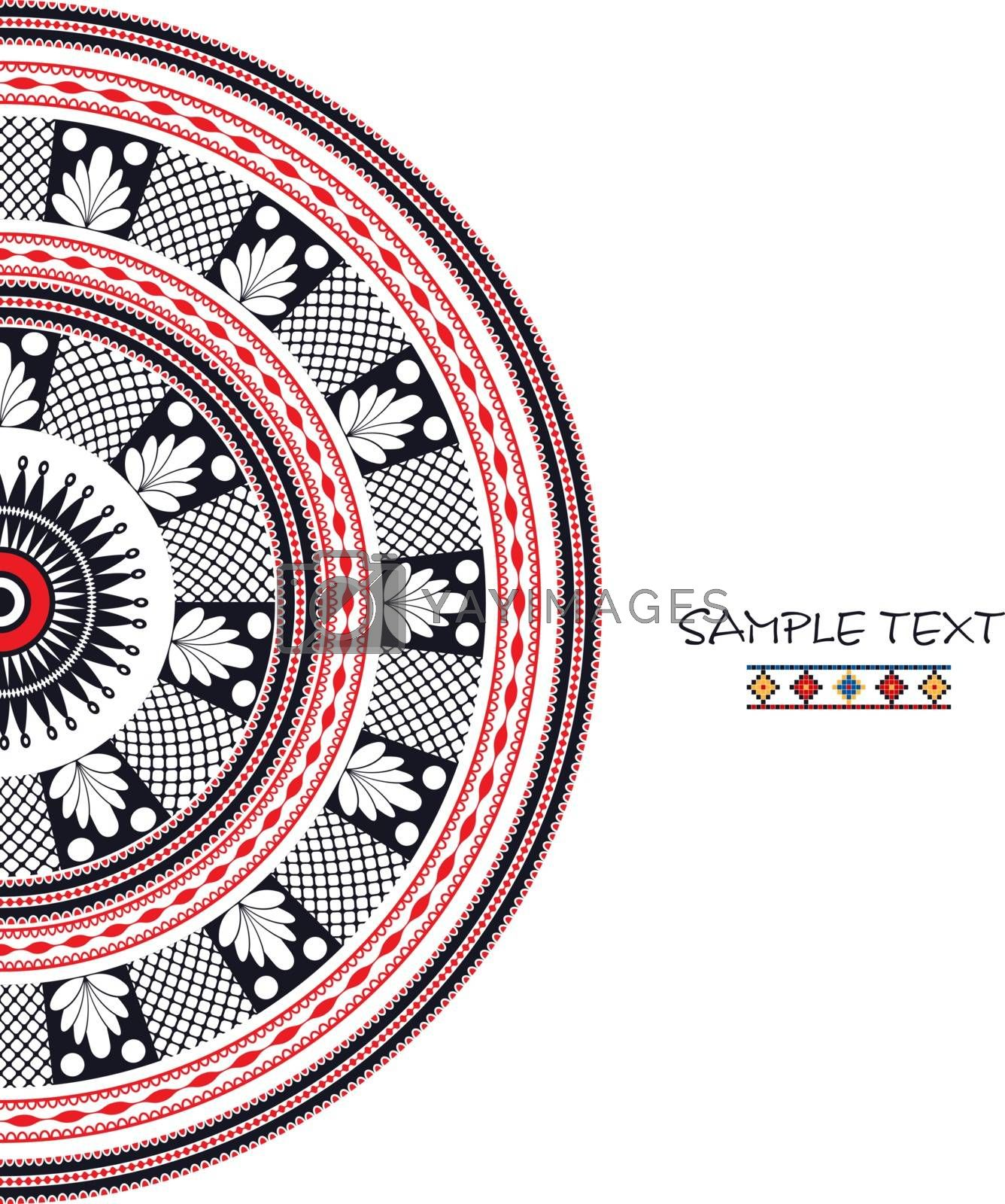 Decorative background with traditional Romanian ornament and place for text.