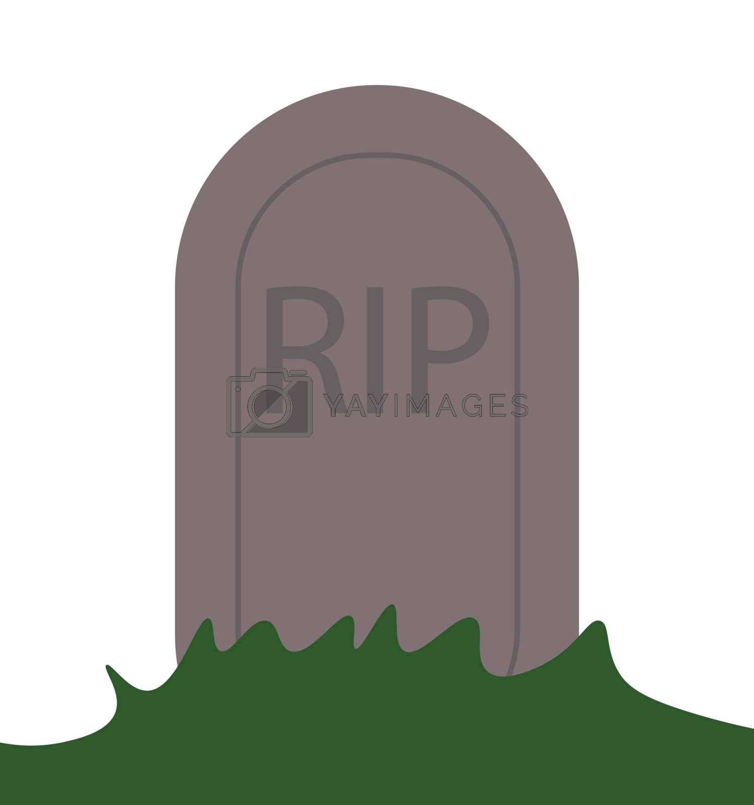 RIP grave vector icon, death symbol. Modern, simple flat vector illustration for web site or mobile app