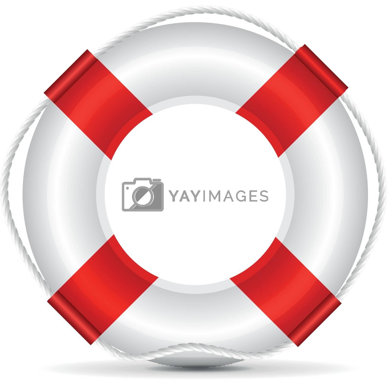Life buoy vector illustration on white background