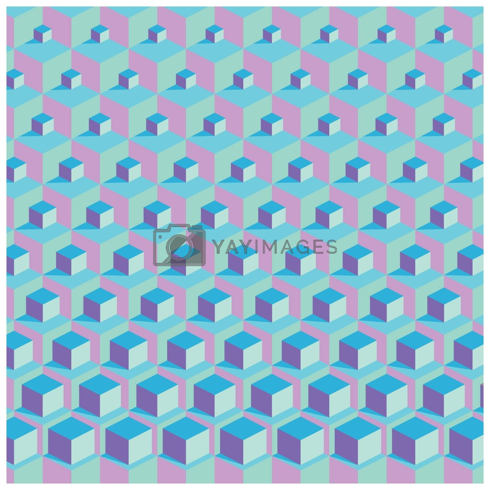 colorful background with cubes