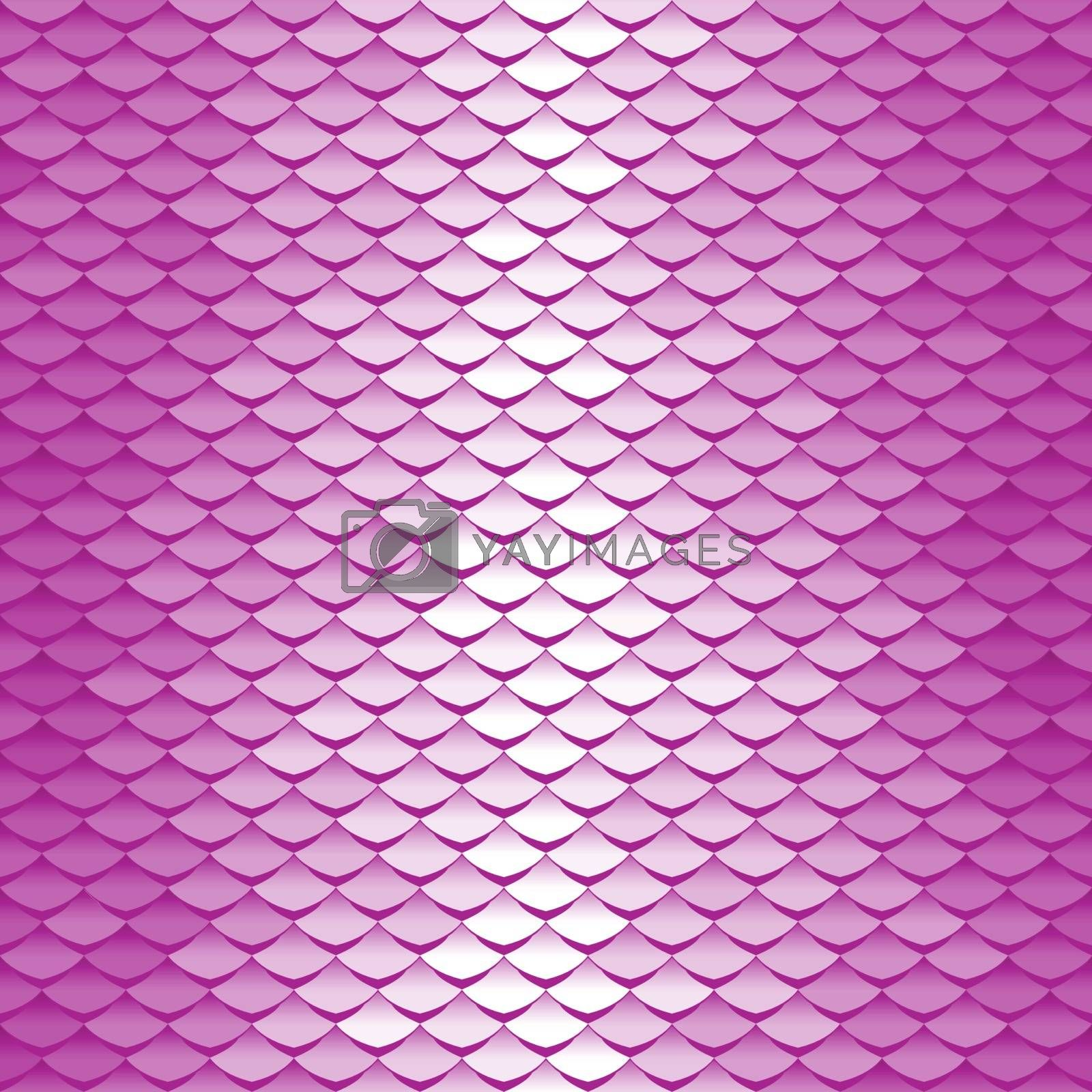 Abstract scale pattern. Roof tiles background. Pink squama texture