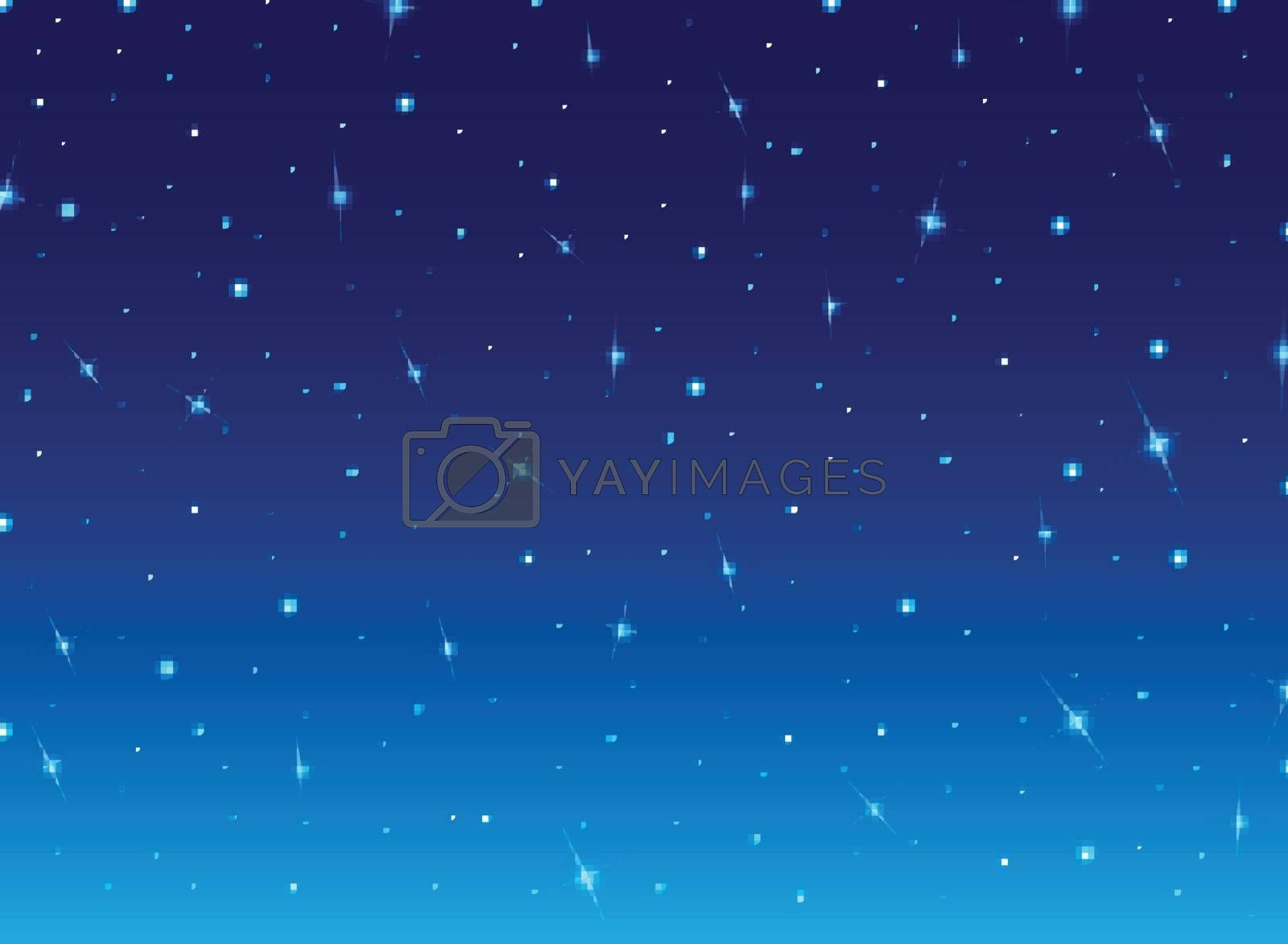 Abstract night blue sky with stars cosmos background. Vector illustration