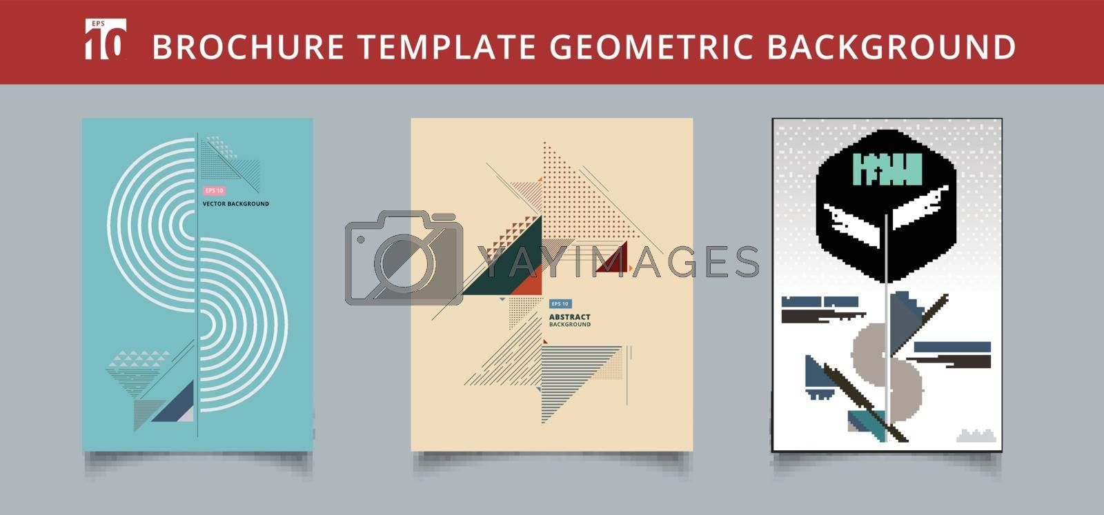 Set template geometric covers design. You can use for print, ad, by phochi