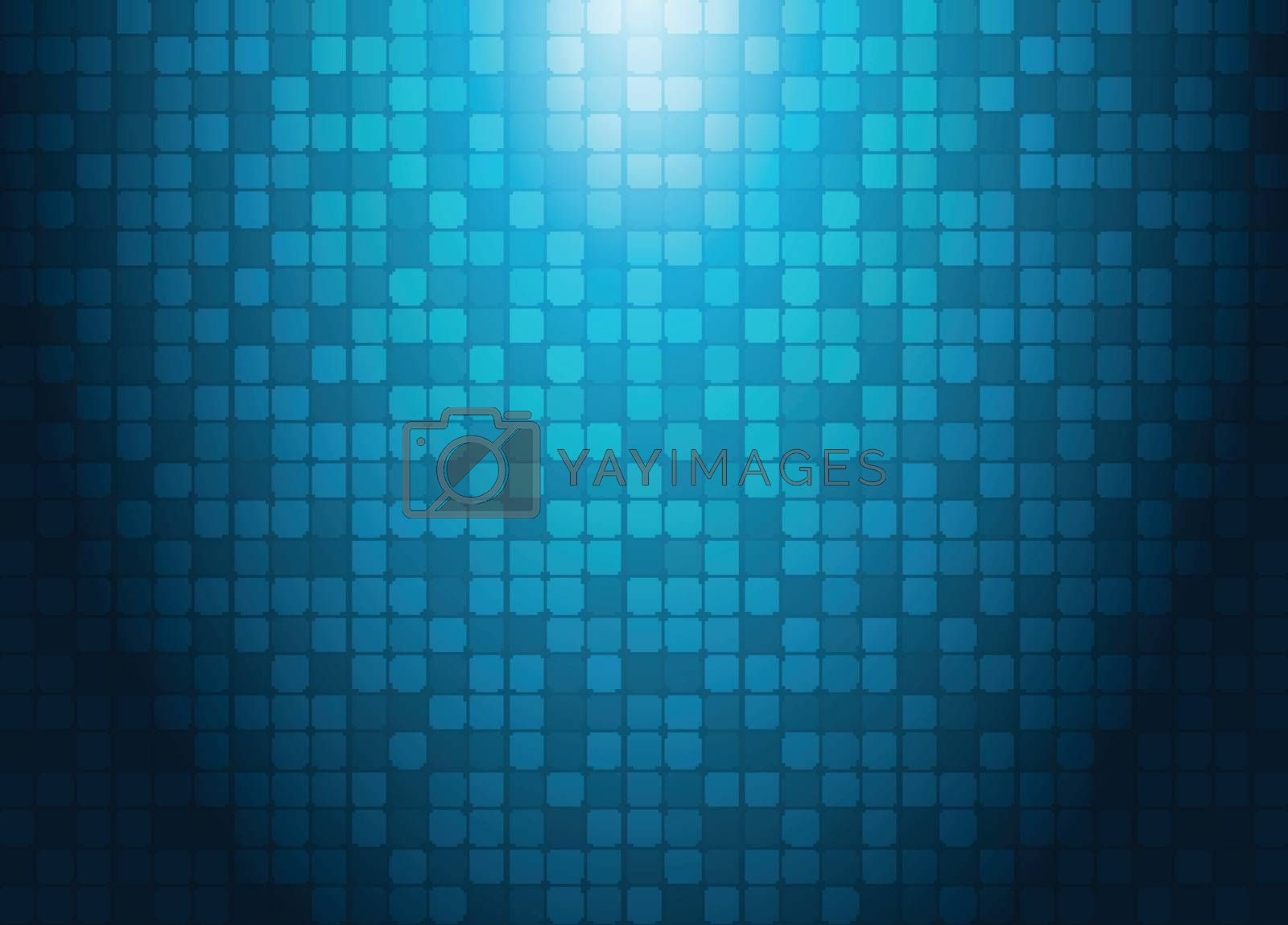 Abstract technology concept with lighting effect blue squares pa by phochi