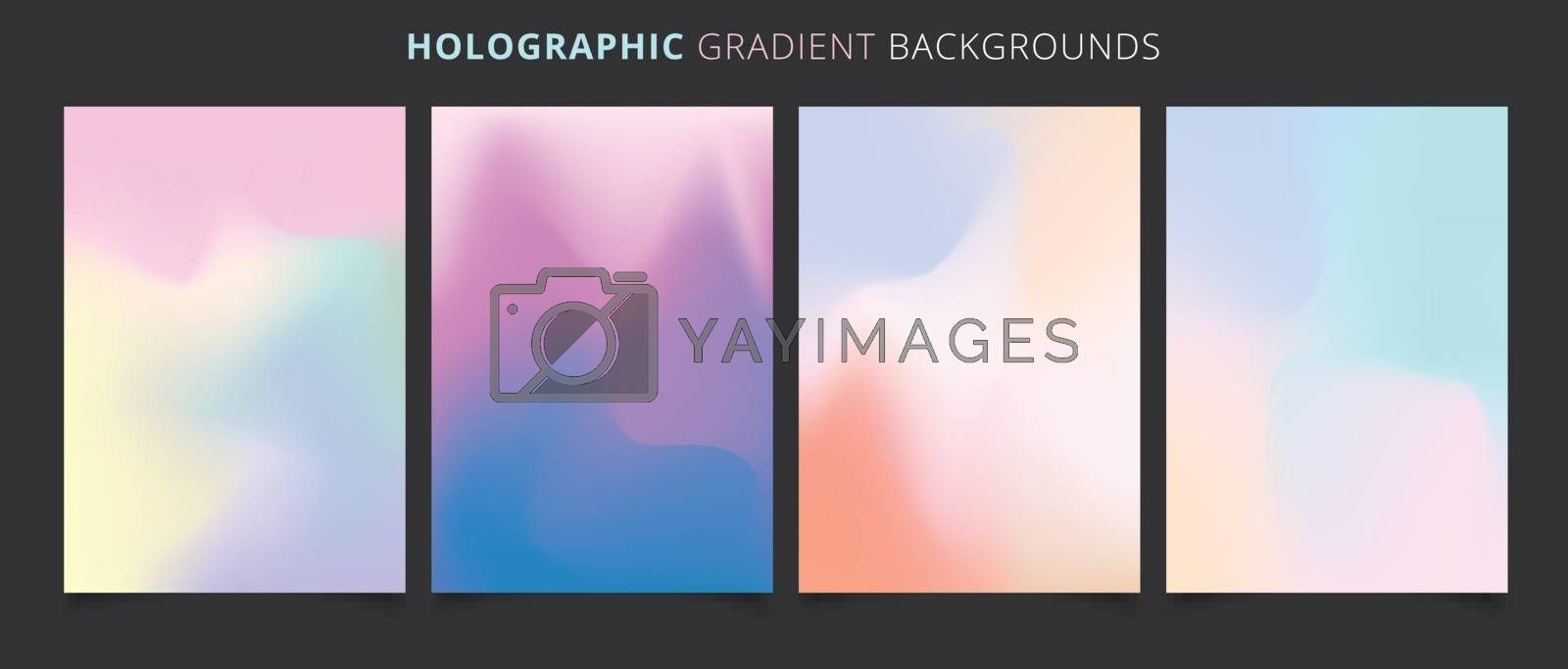 Template holographic gradients colorful background. Vector illustration. You can use for your websites, blogs, banners, posters, for prints on clothes and other things, packaging etc.