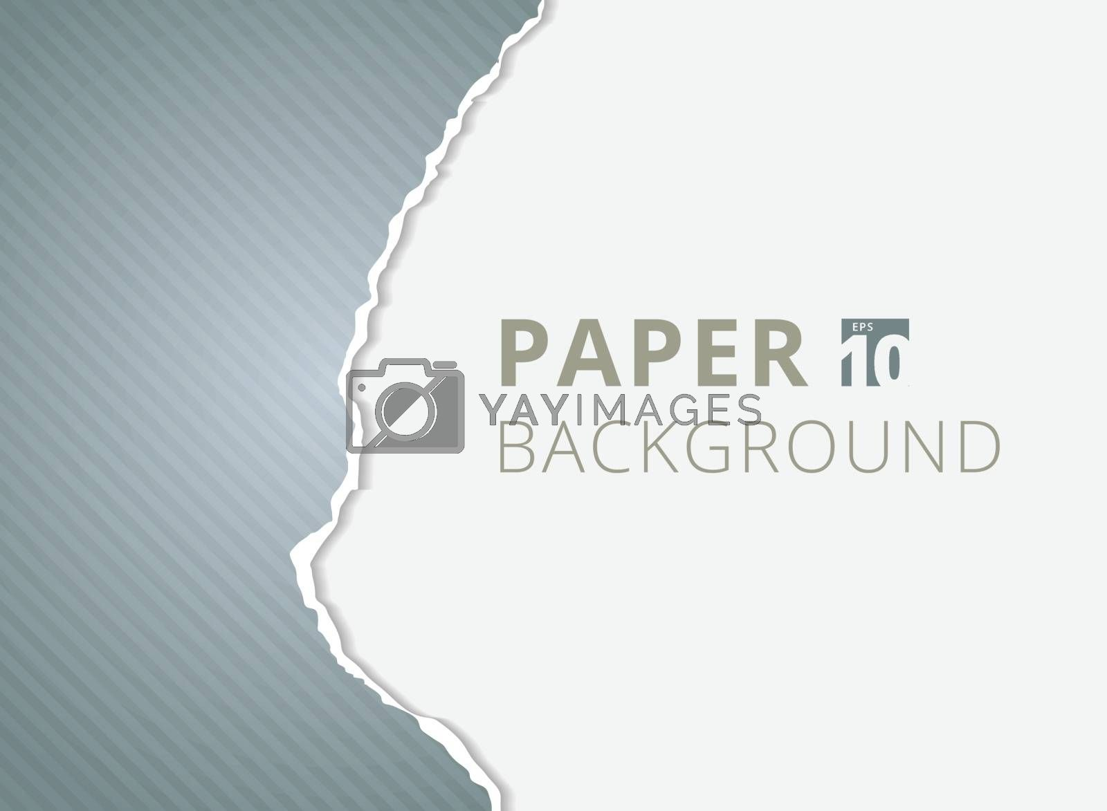 Gray paper torn backgrounds with space for text. by phochi