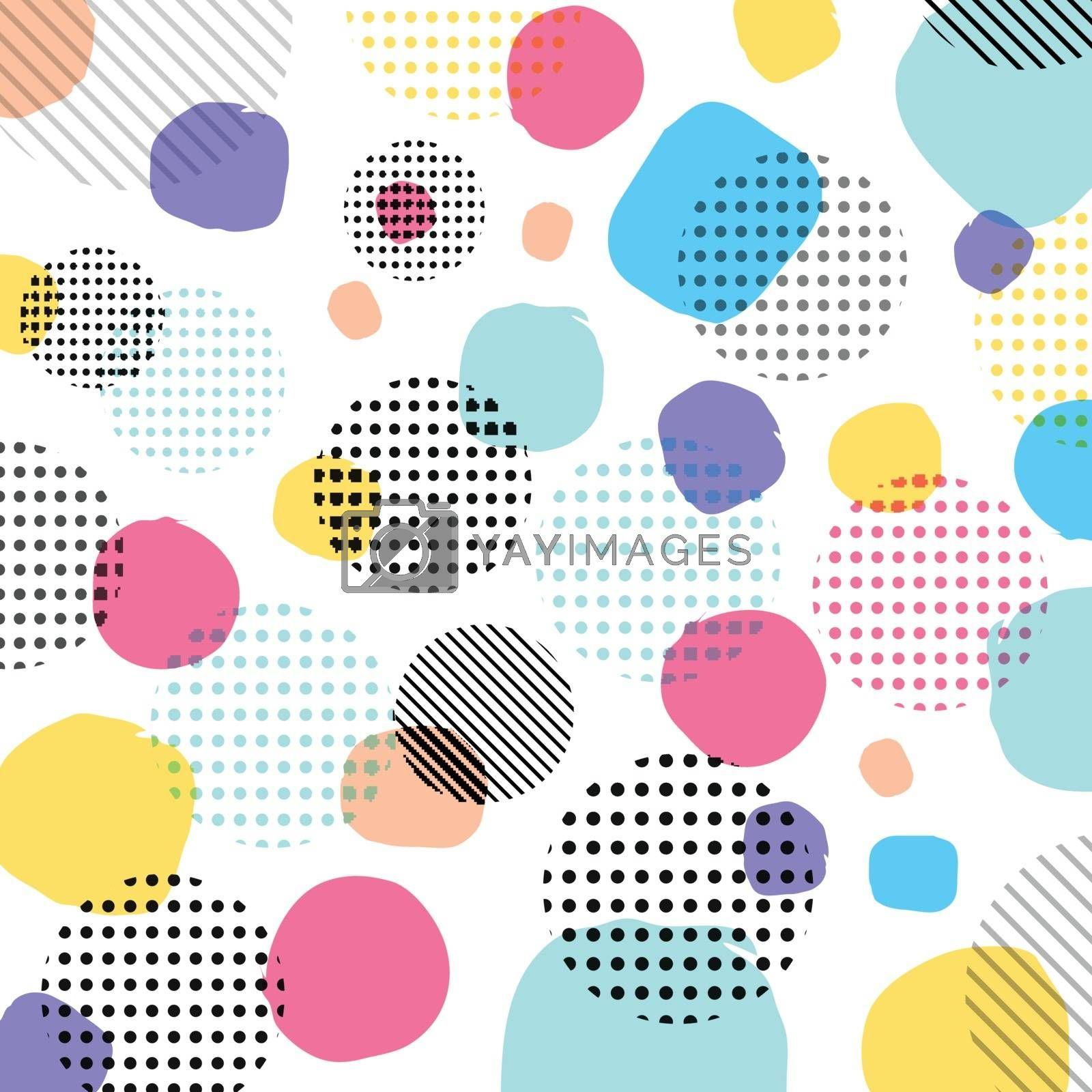 Abstract modern pastels color, black dots pattern with lines diagonally on white background. Vector illustration