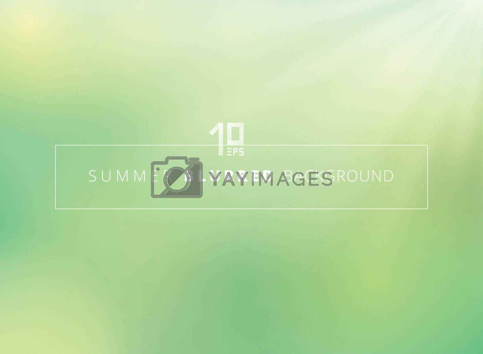 Summer time green nature blurred background with sunlight shine. by phochi