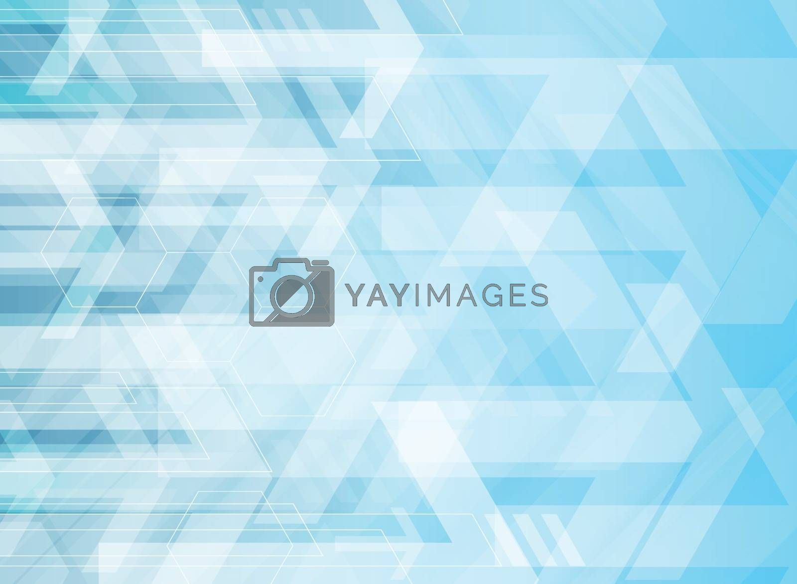Abstract technology geometric corporate arrows on blue background. Vector illustration