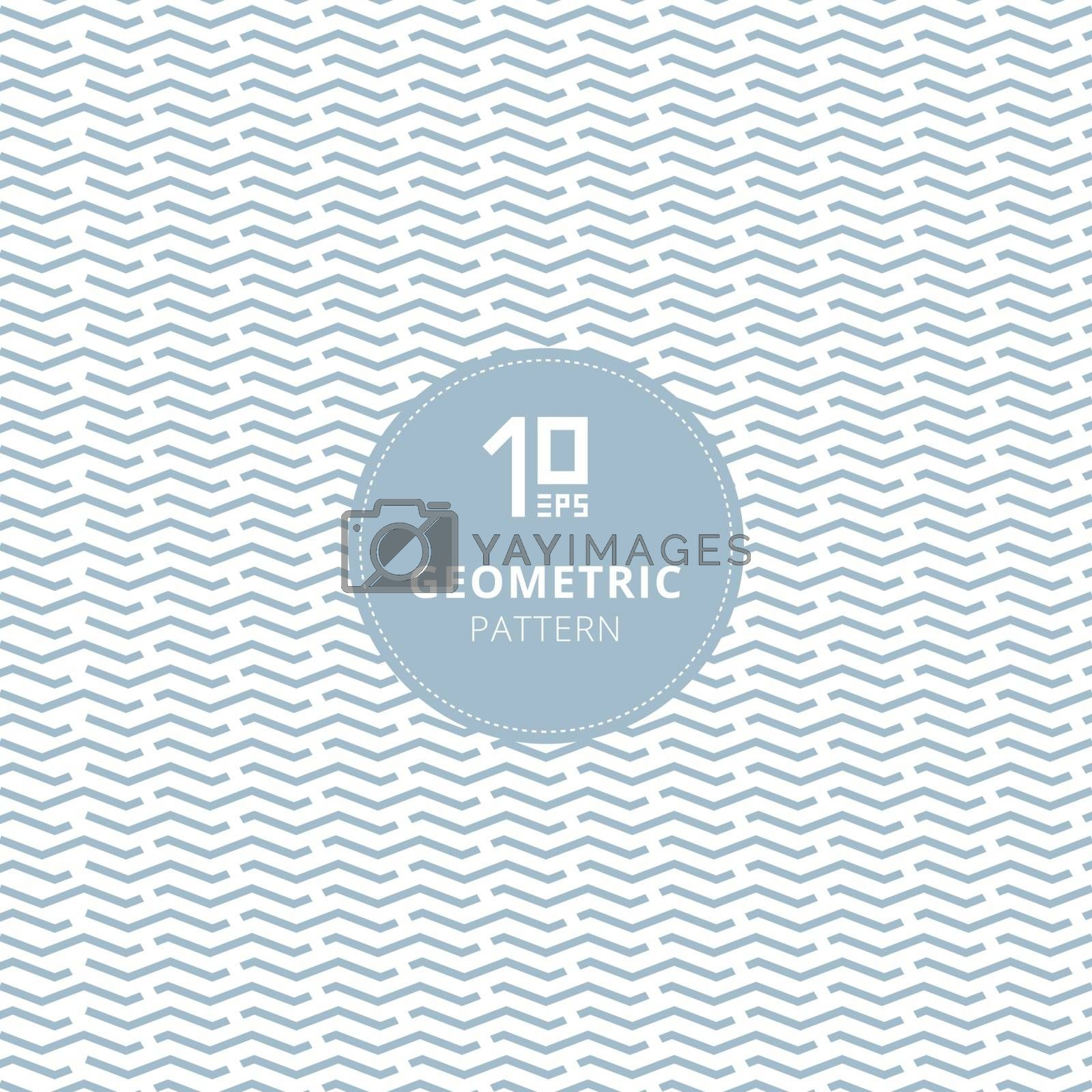 Geometric wave, wavy, chevron pattern pastel color abstract background. Vector illustration