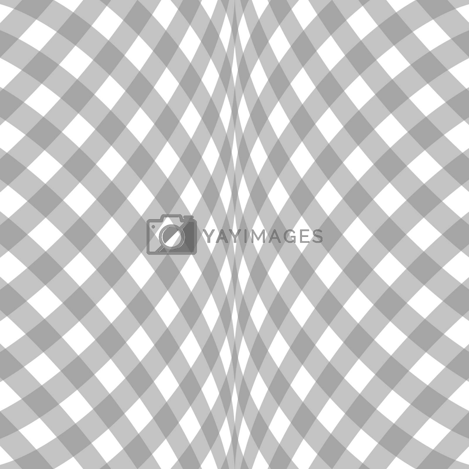Abstract checkered background white and gray diagonal pattern.