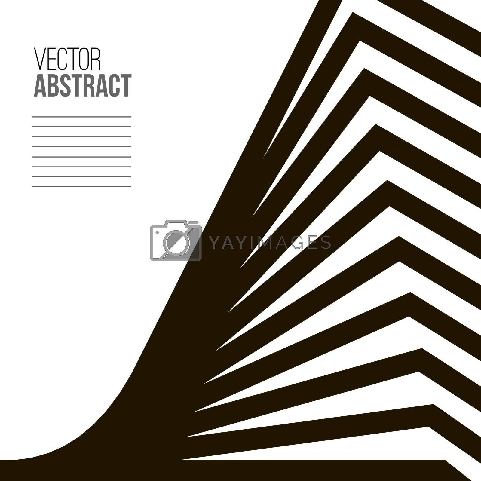 Abstract building with perspective. Architecture book cover.