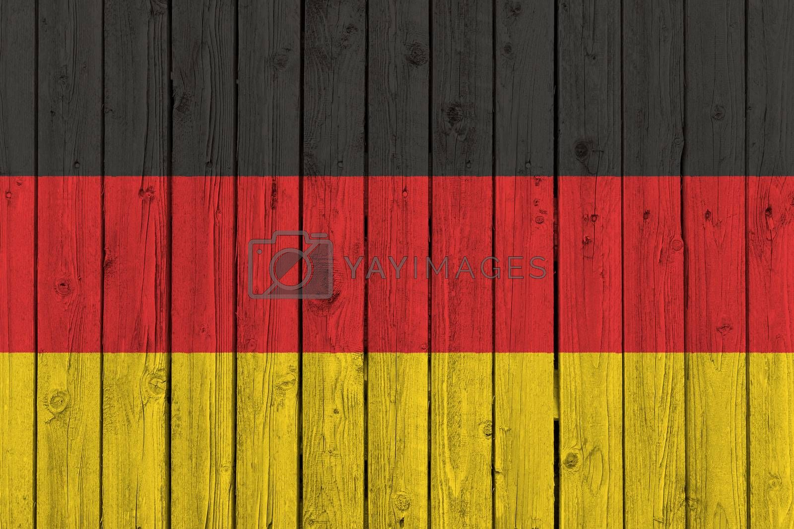 Germany national flag on old weathered wood background