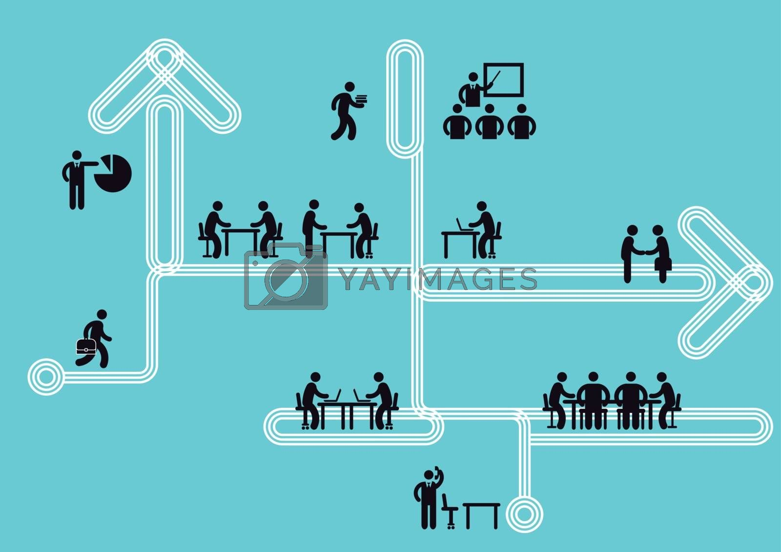 Royalty free image of Business Icon Information, Teamwork Concept, Vector Illustration by scusi
