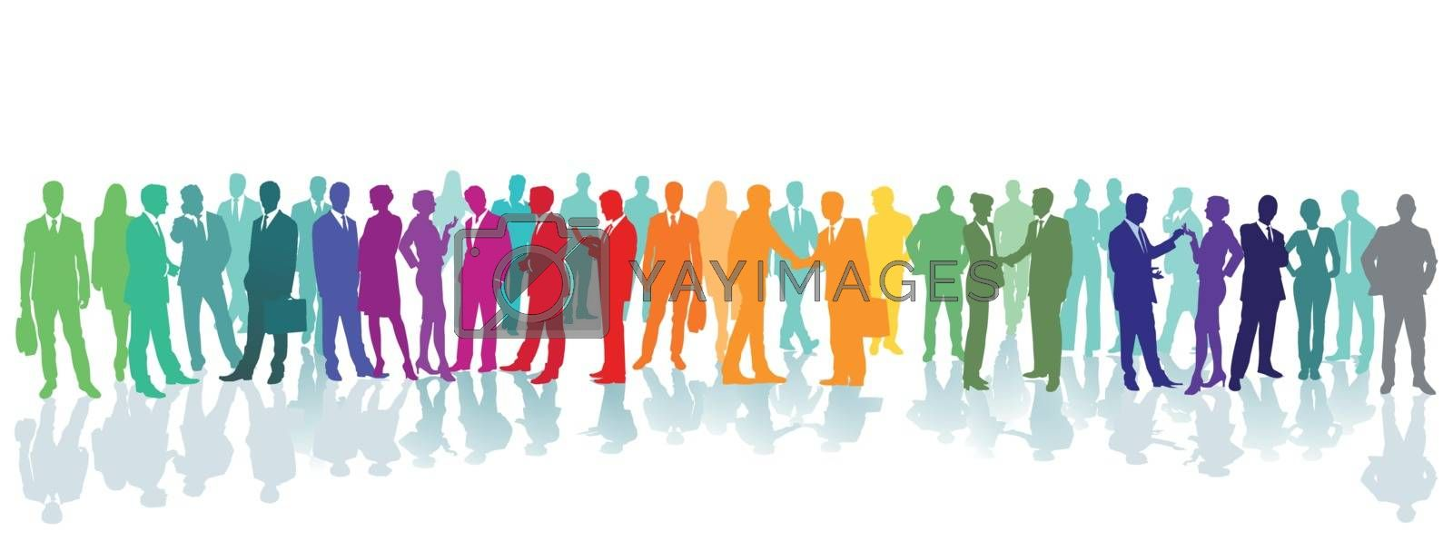 Royalty free image of Colorful crowd on a place by scusi