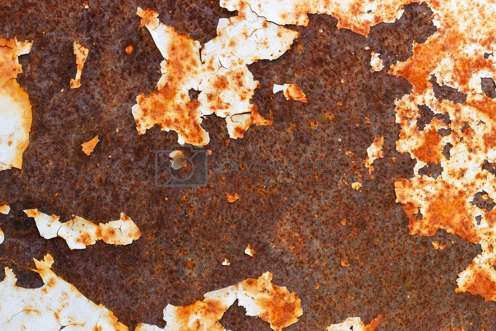 Close up of old rustic metal texture background