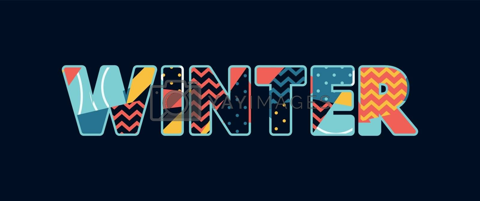 The word WINTER concept written in colorful abstract typography. Vector EPS 10 available.