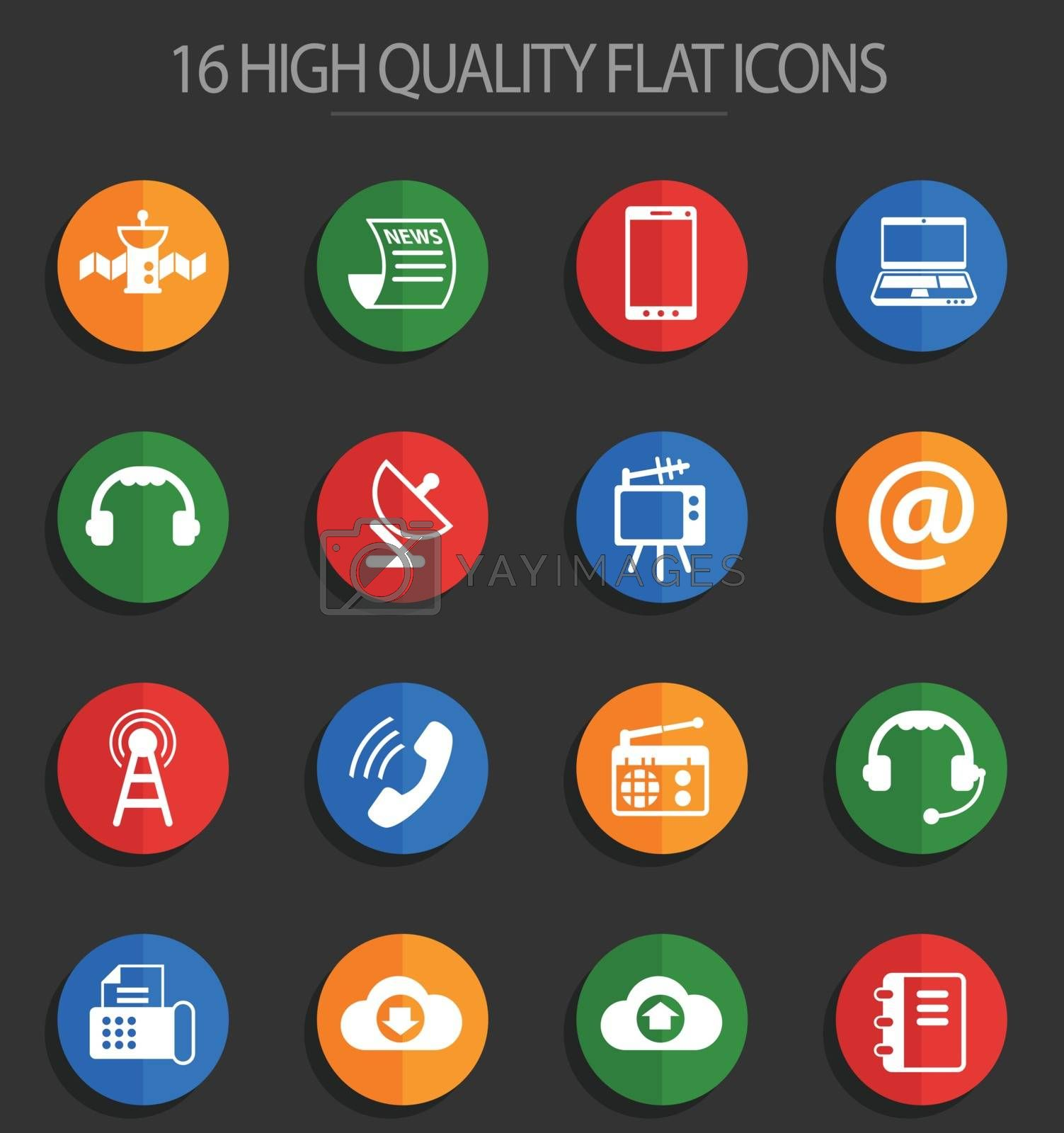 communication vector icons for web and user interface design