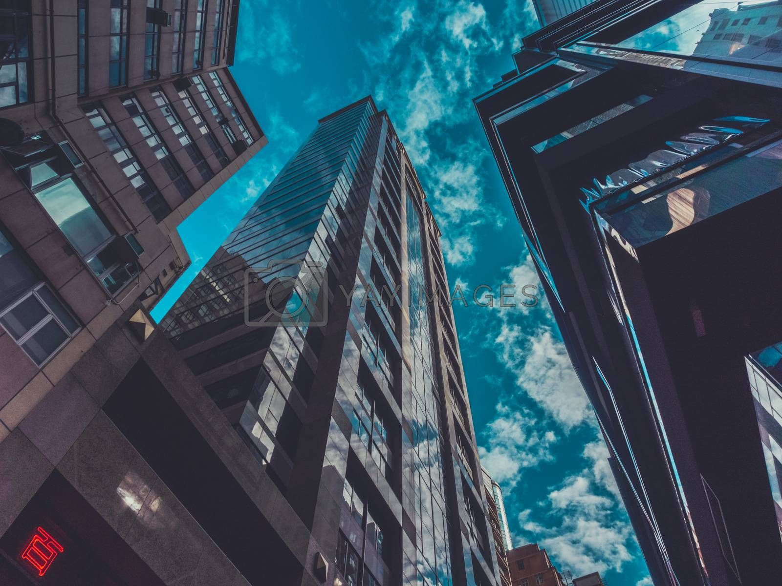 Skyscraper Buildings and Sky View in Big City
