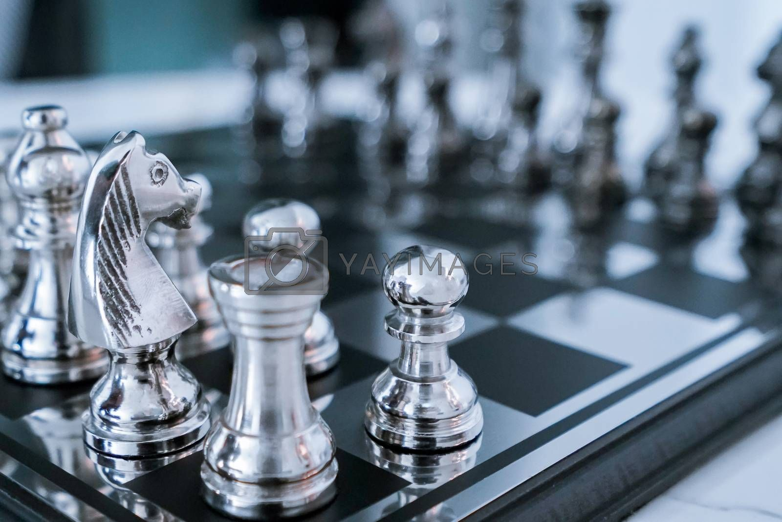 Royalty free image of chess board game by antpkr