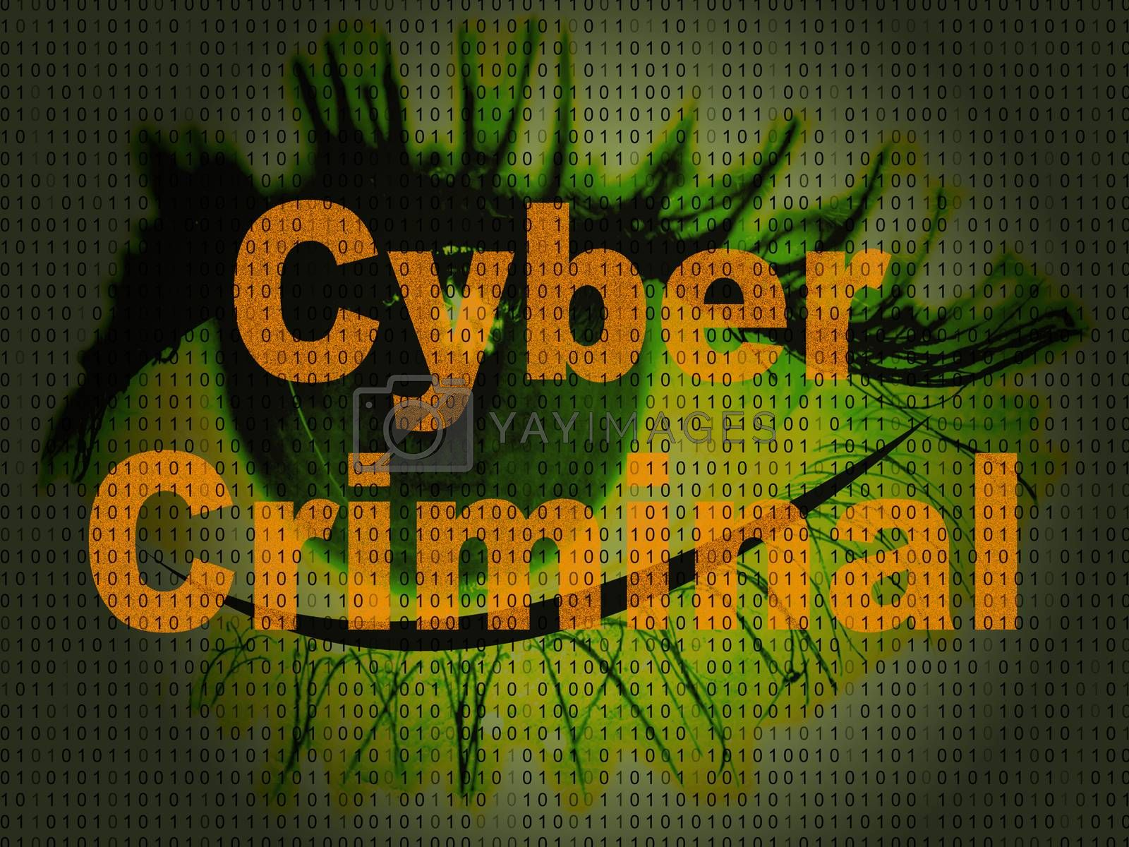 Cybercriminal Internet Hack Or Breach 2d Illustration by stuartmiles
