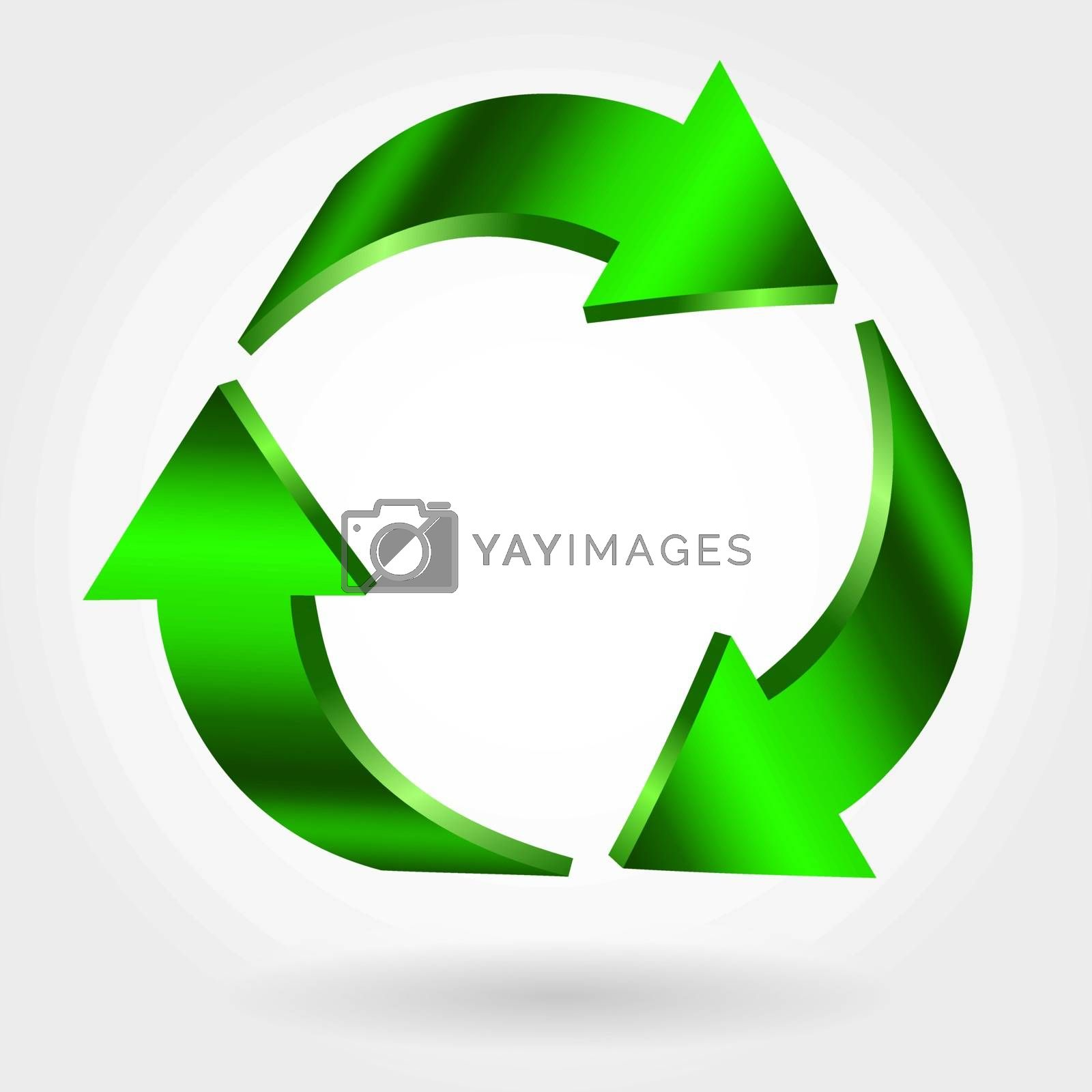 Recycle symbol isolated on white background. Vector sign. Green icon
