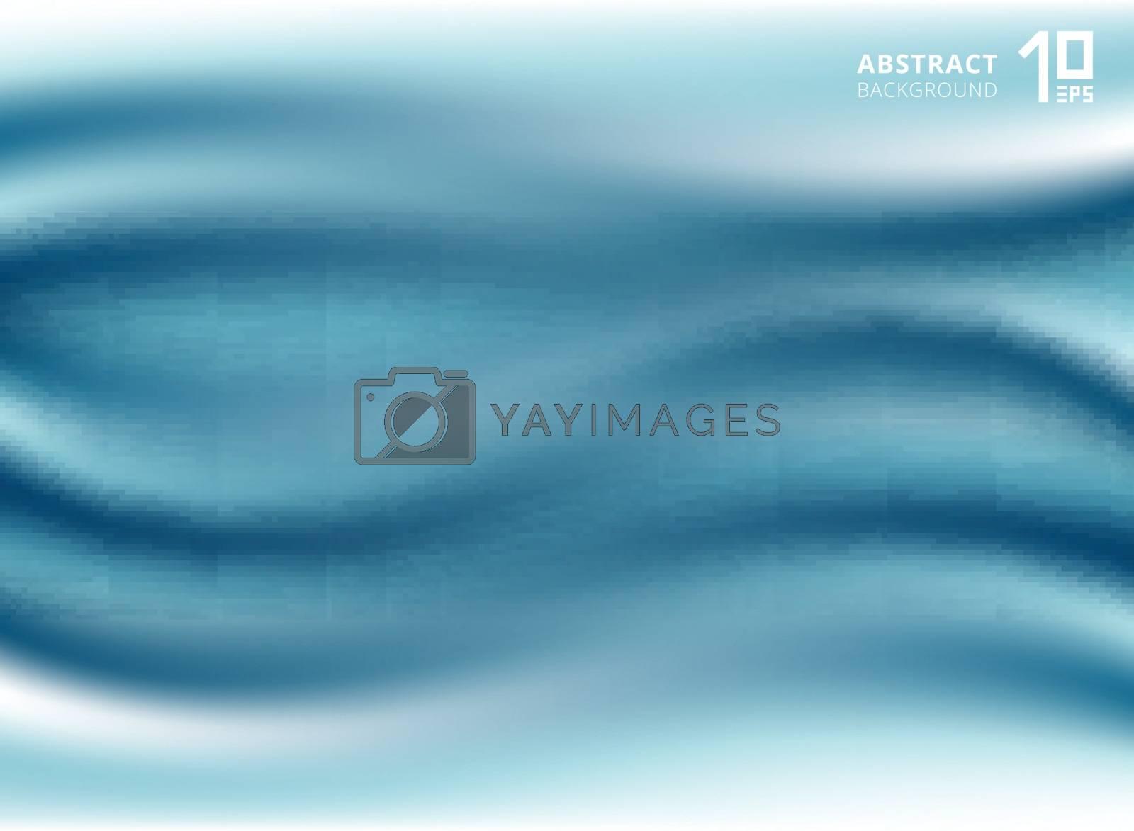 Luxury beautiful blue cloth or liquid wave or wavy folds silk texture satin. Drapery Background. Vector Illustration