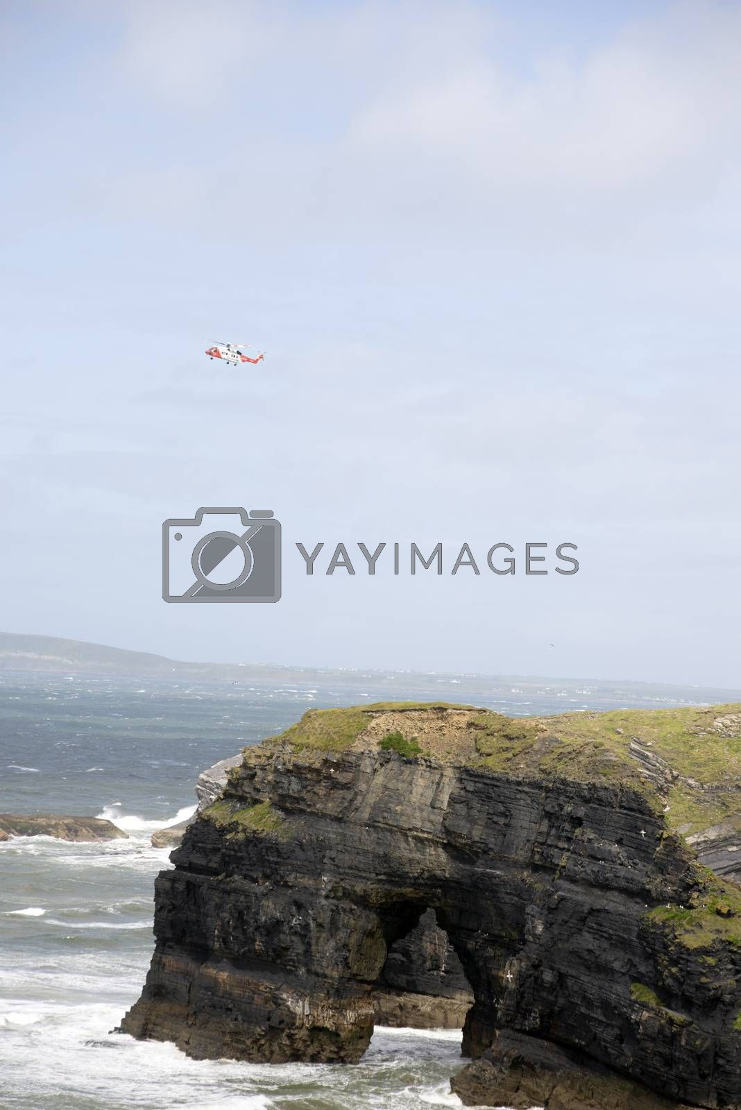 irish search and rescue at the virgin rock in ballybunion county kerry ireland