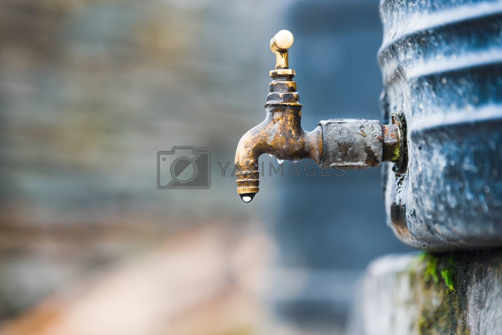 Dripping tap attached to a water tank