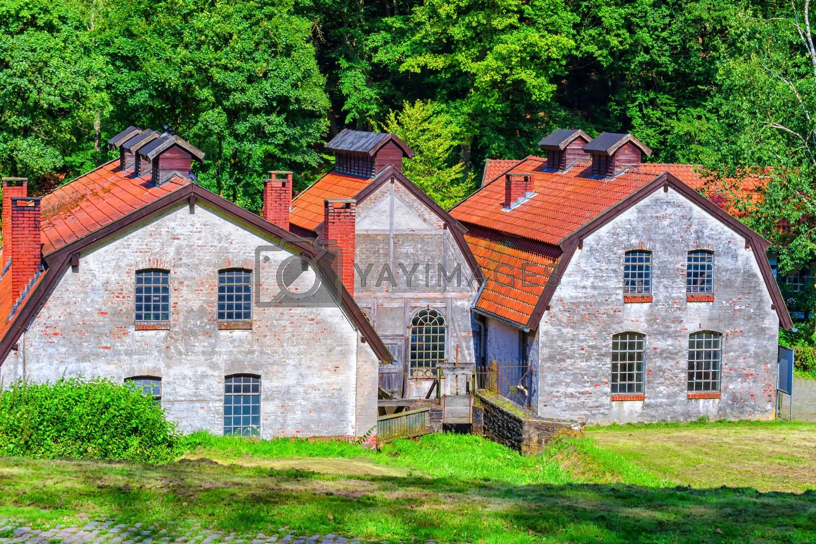 Old factory building and facade           by JFsPic