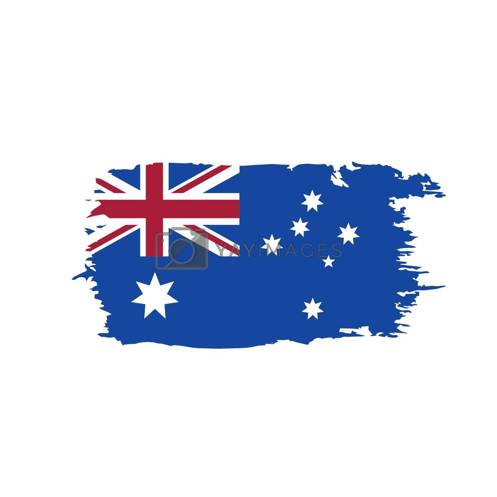 Australia flag, vector illustration on a white background