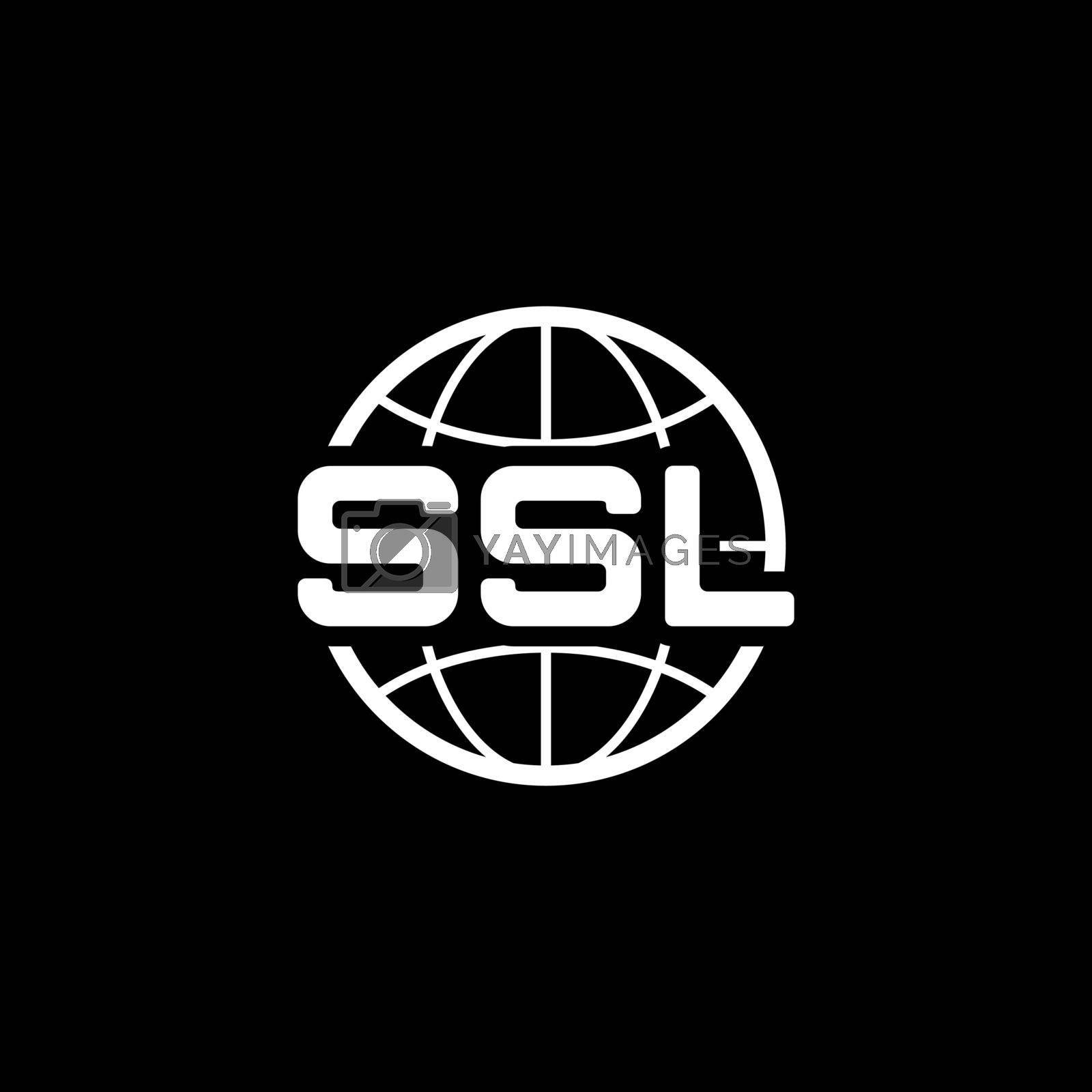 Global SSL Security Icon. Flat Design Isolated Illustration.