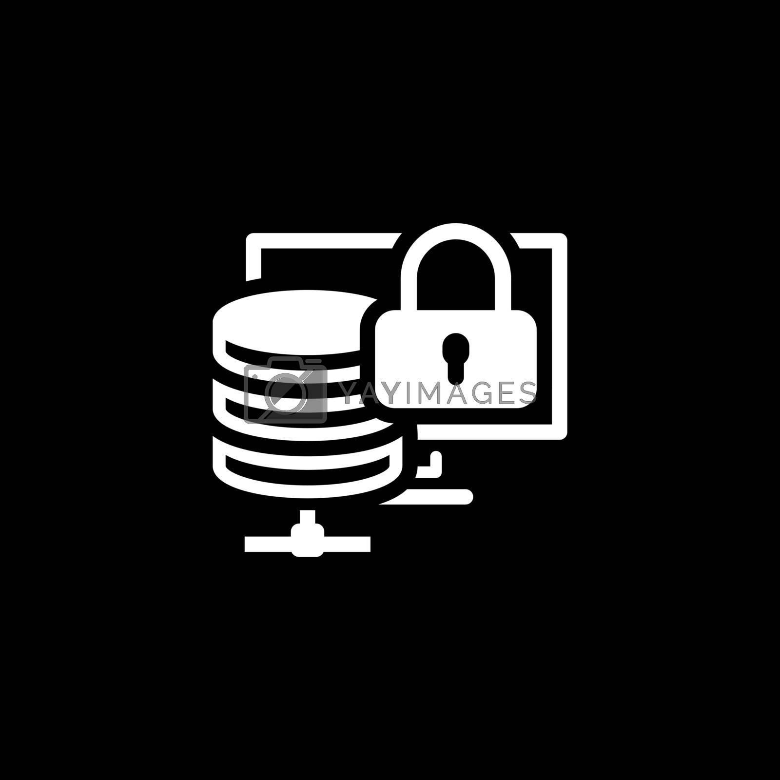 Secure Storage Icon. Flat Design Isolated Illustration.
