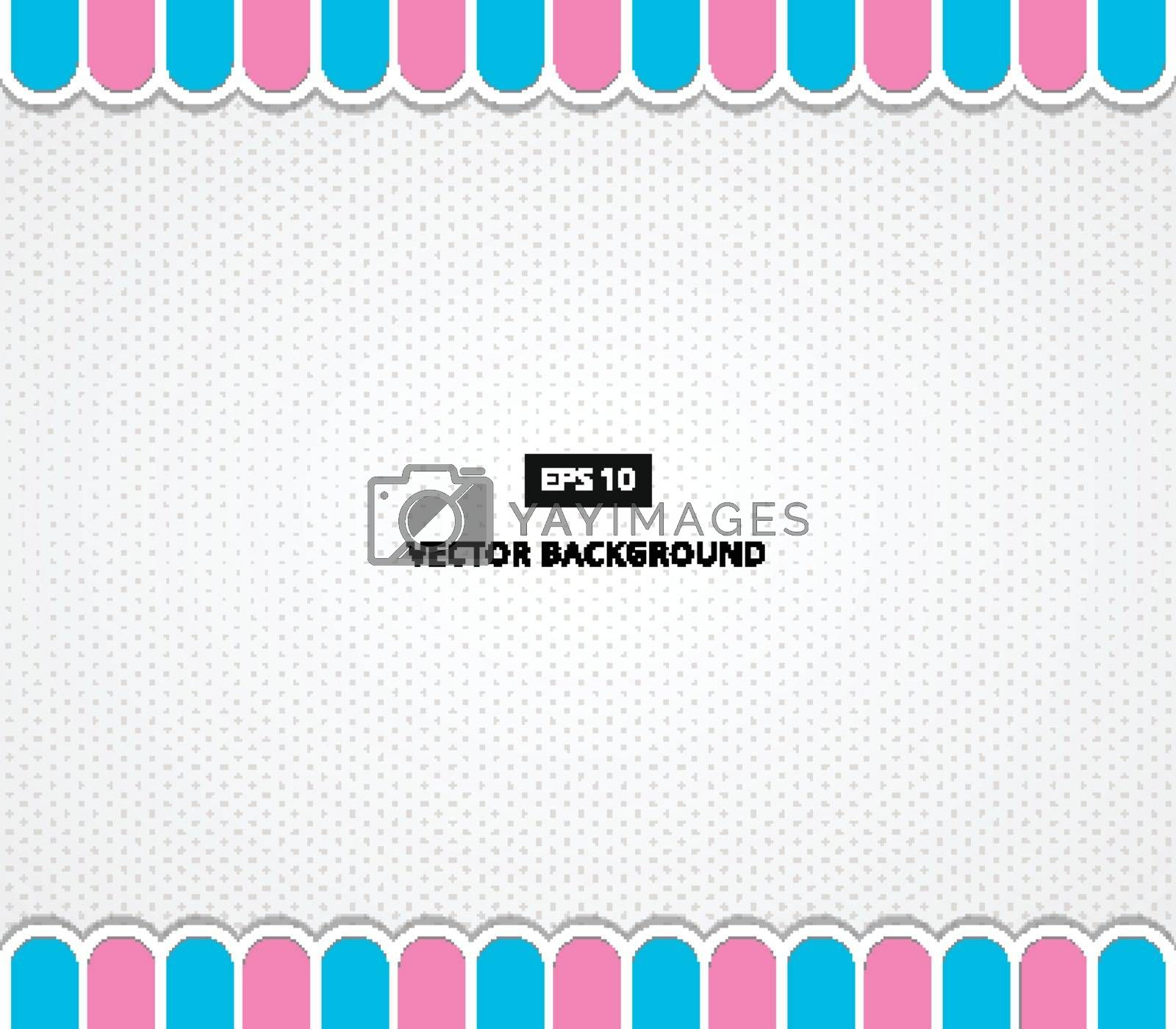 polka dot background with awning vector