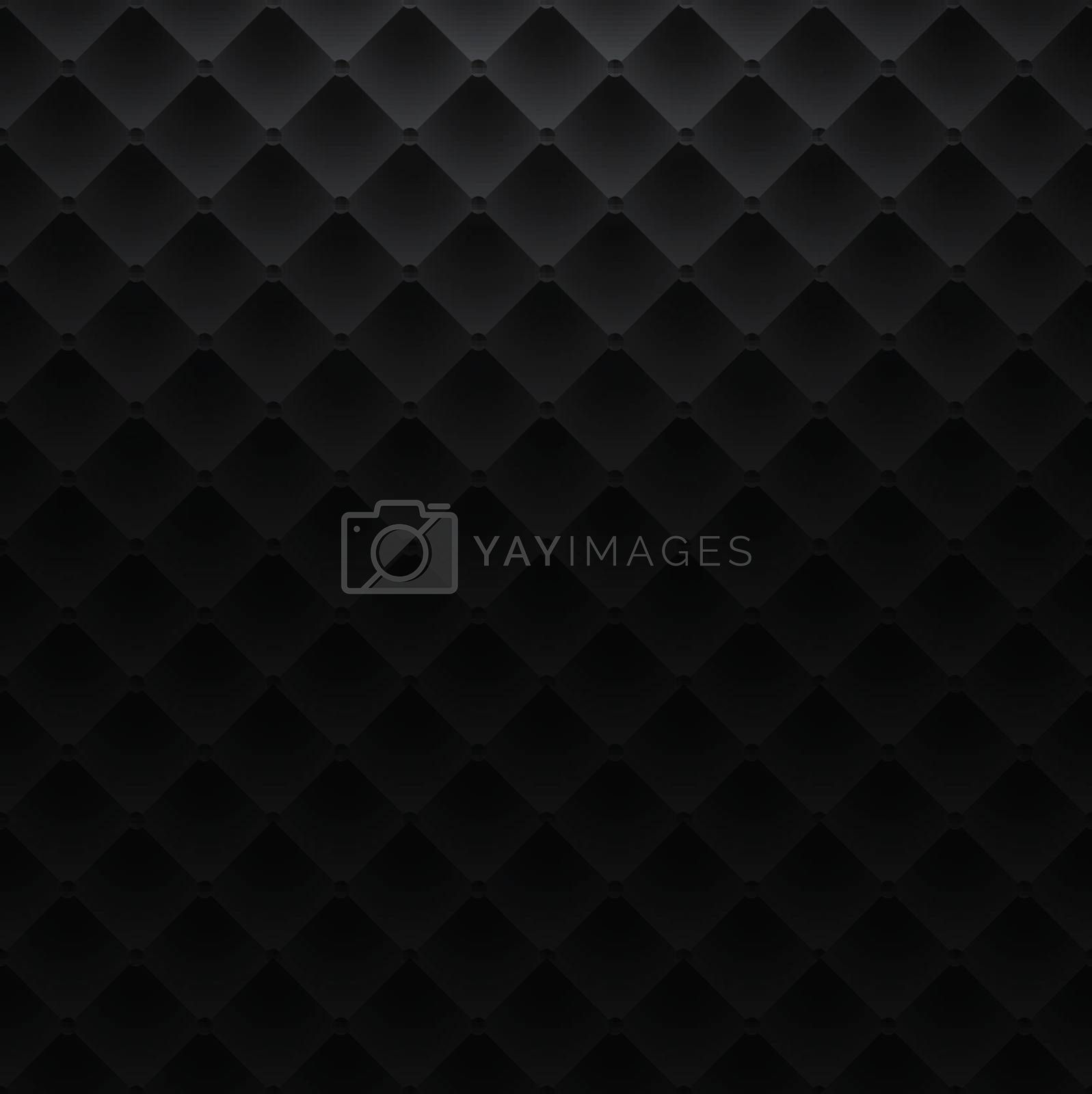 black square luxury pattern sofa texture background vector