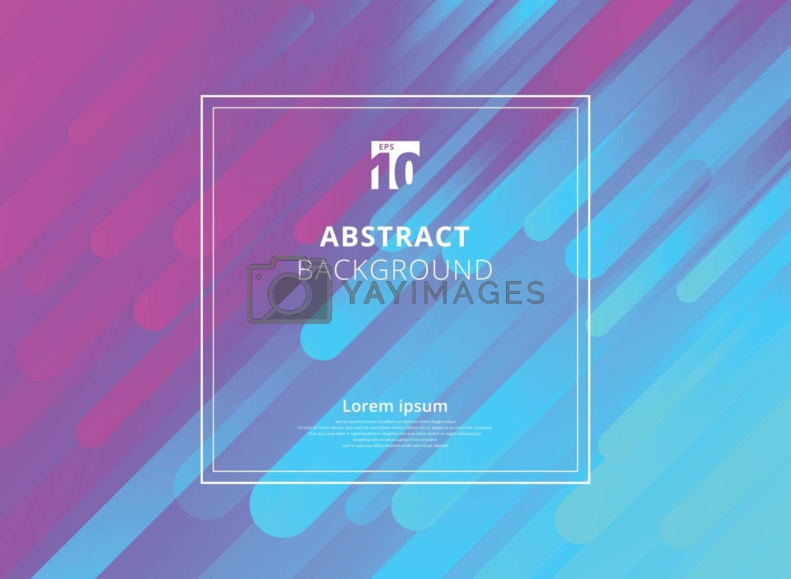 Abstract colorful geometric dynamic shapes background with white frame space for text. Vector illustration