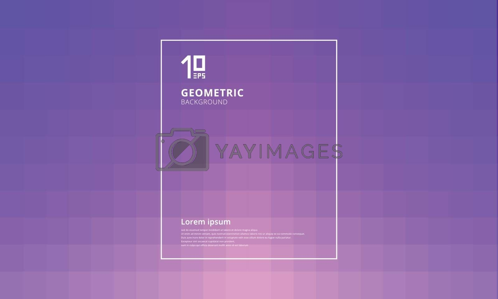Abstract geometric squares pattern with lighting effect on purple background. You can use for template, poster, brochure, print, leaflet, mobile screen, website, annual report. Vector illustration