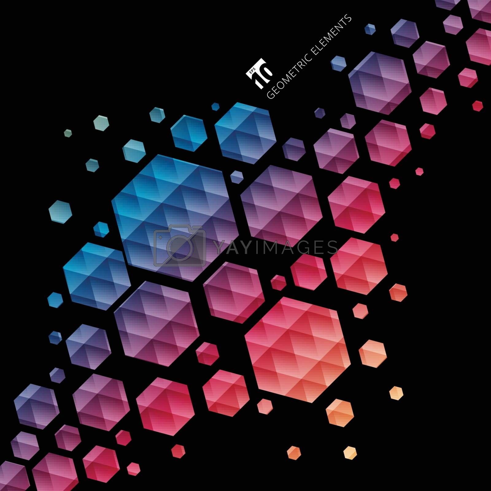 Abstract geometric hexagon pattern colorful background, Creative design templates, Vector illustration