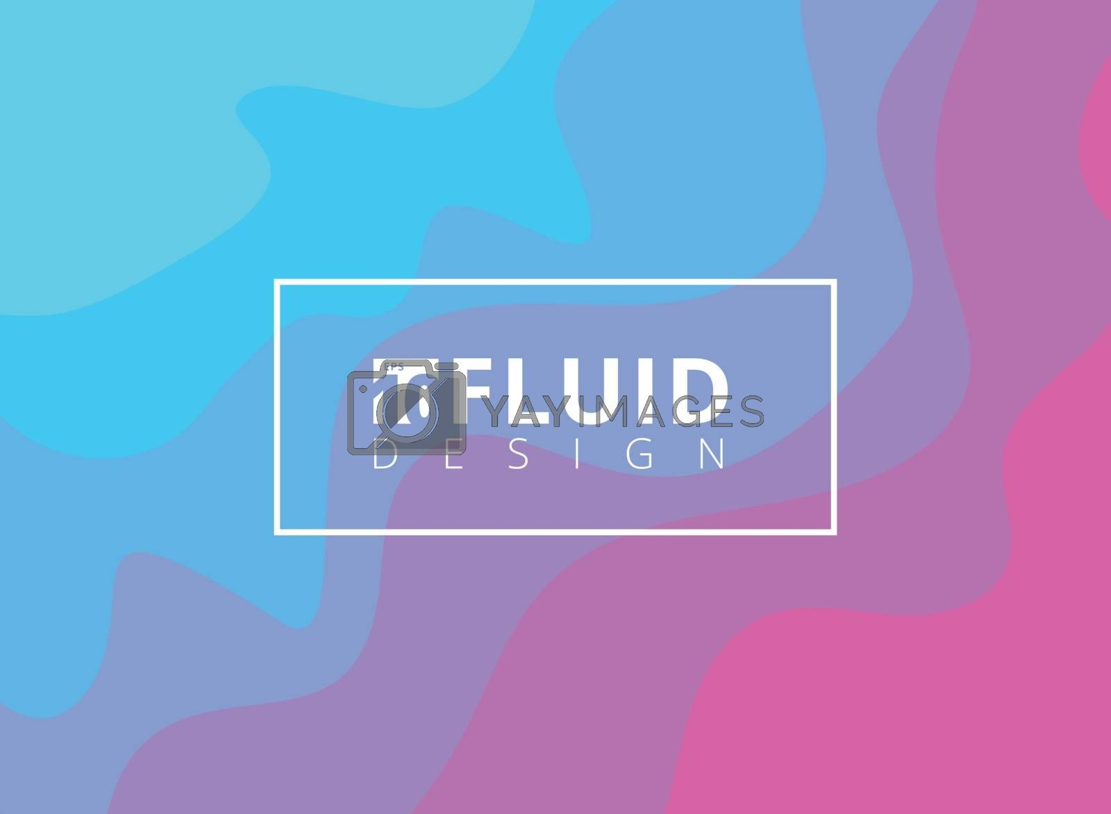 Abstract blue and pink fluid design background. Liquid colorful pattern. Vector illustration
