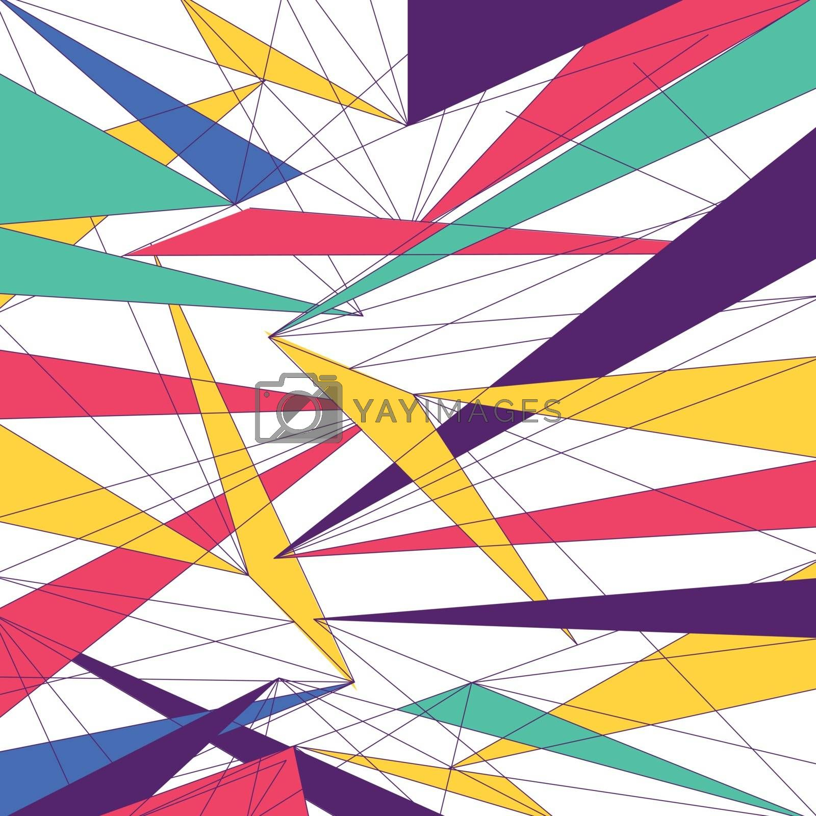 Abstract modern colorful lines triangle futuristic trendy design background. Vector illustration