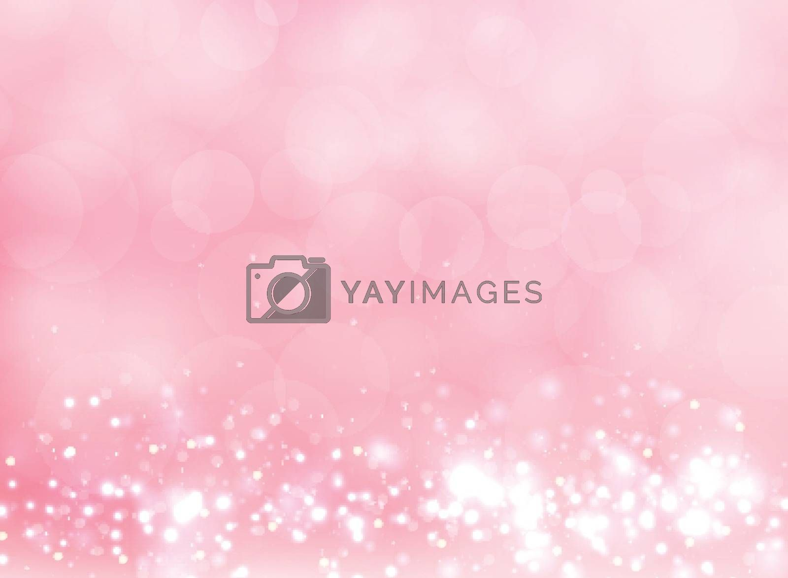 Abstract pink blurred light background with bokeh and  glitter effect. Vector illustration