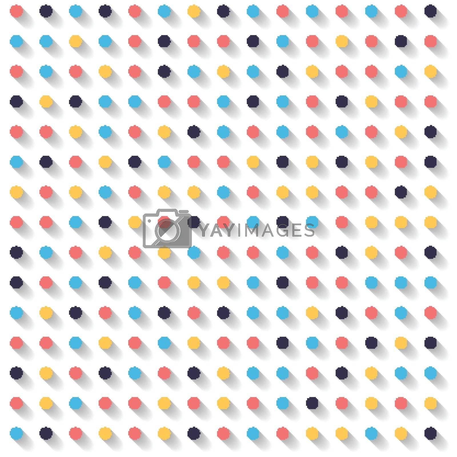 Abstract striped circles dots colorful and shadow on white background. Bullet Point 3d. Vector illustration
