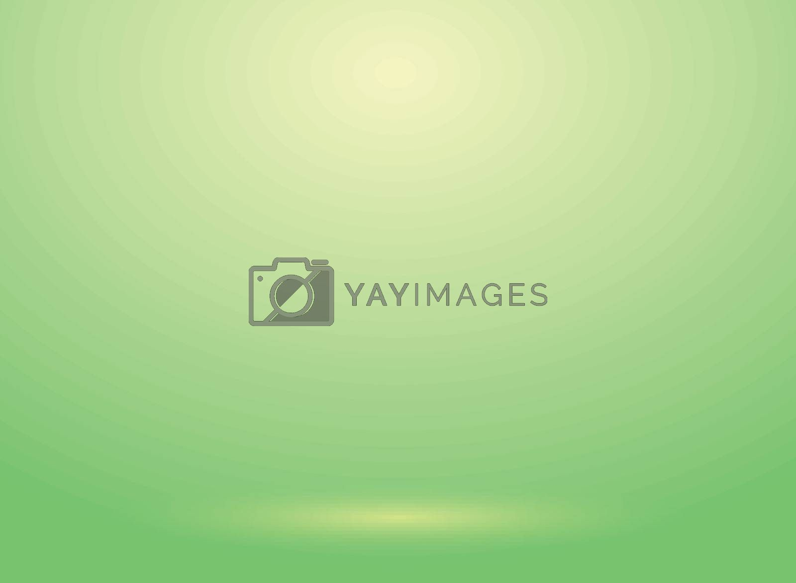 Studio room green lihjt background with lighting well use as Business backdrop, Template mock up for display of product, Vector illustration